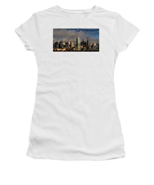 Skyline Fog Women's T-Shirt (Athletic Fit)
