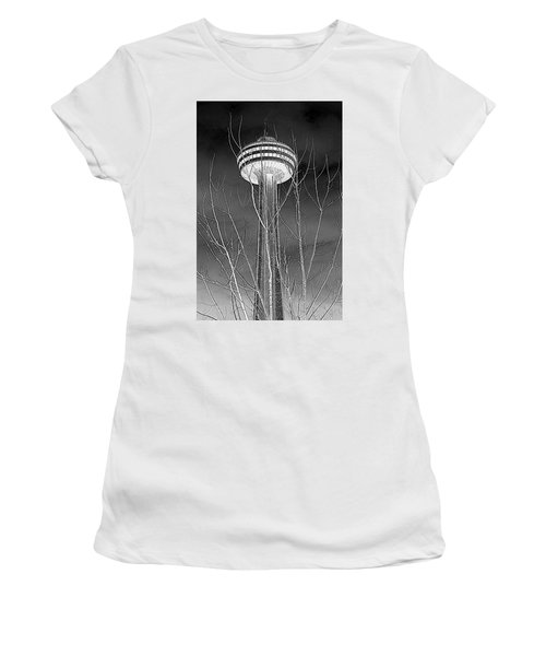 Women's T-Shirt (Junior Cut) featuring the photograph Skylon Tower by Valentino Visentini
