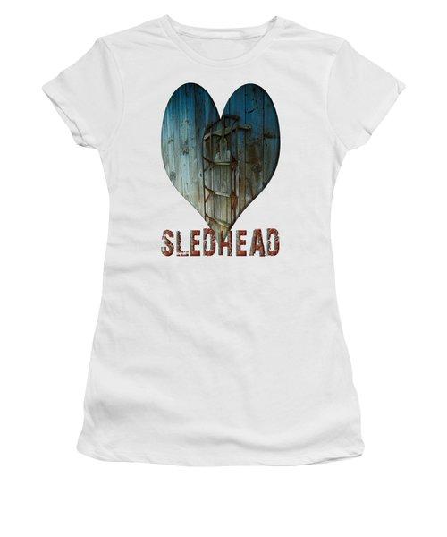 Sledhead Women's T-Shirt (Junior Cut) by Mim White