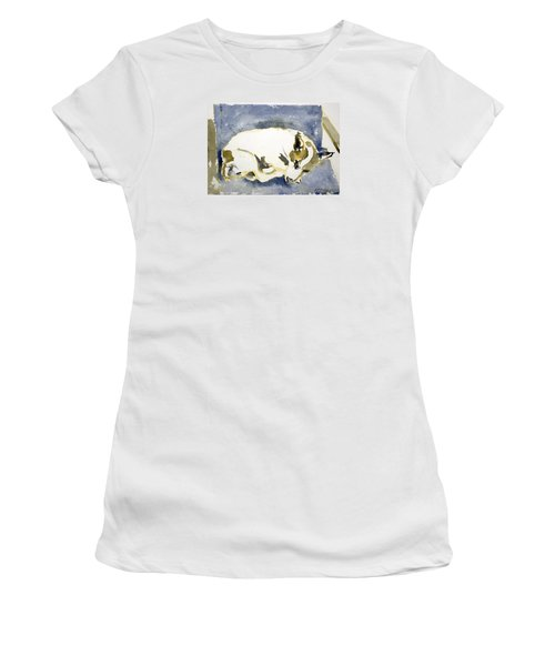 Sleeping Dog Women's T-Shirt (Athletic Fit)