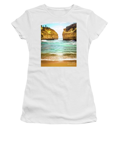 Women's T-Shirt (Junior Cut) featuring the photograph Small Bay by Perry Webster