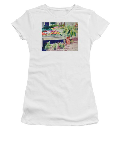Small Garden Scene Women's T-Shirt (Athletic Fit)