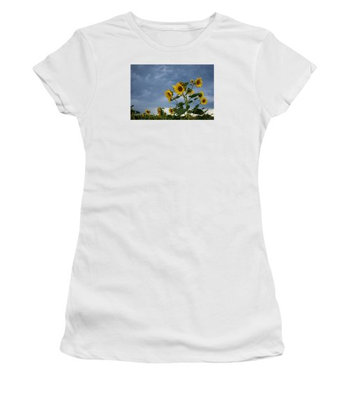Small Sunflowers Women's T-Shirt (Athletic Fit)