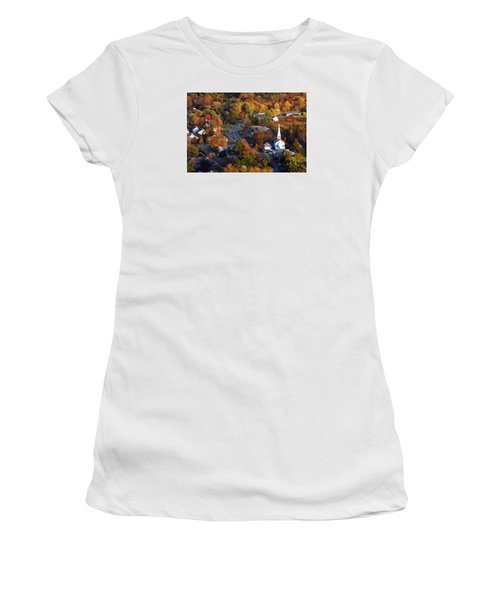 Small Town Aerial Women's T-Shirt (Junior Cut)