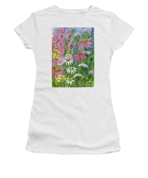 Smiling Flowers Women's T-Shirt
