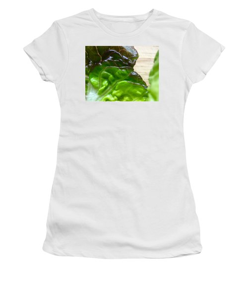 Smoked Prosciutto Open Sandwich Red Gem Lettuce Women's T-Shirt