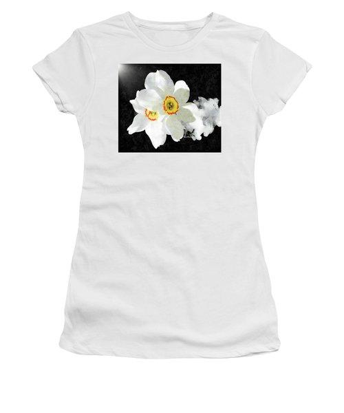 Smokey White Floral Women's T-Shirt