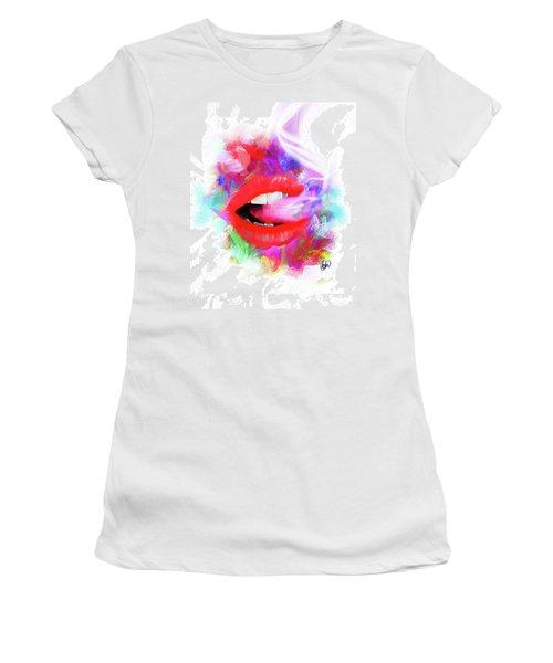 Smoking Lips Women's T-Shirt (Athletic Fit)