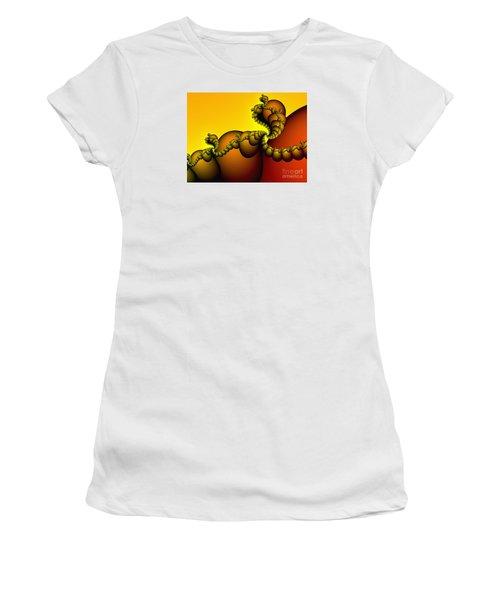 Women's T-Shirt (Junior Cut) featuring the digital art Snails Convoy by Karin Kuhlmann