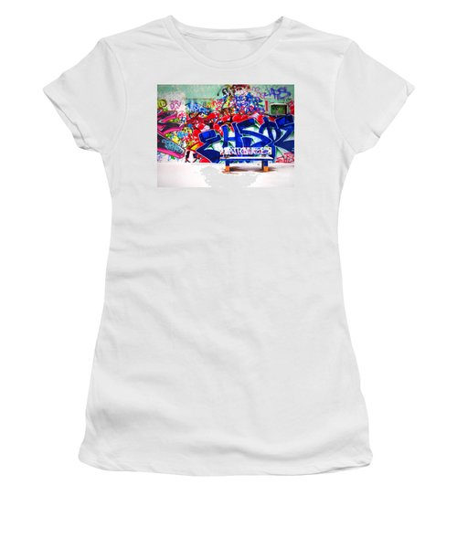 Snow And Graffiti Women's T-Shirt