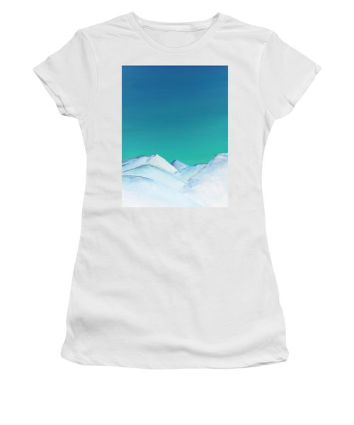 Snow Capped Mountains Women's T-Shirt
