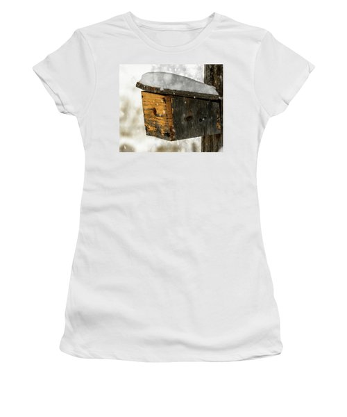 Snow Cover Women's T-Shirt (Junior Cut) by Sherman Perry