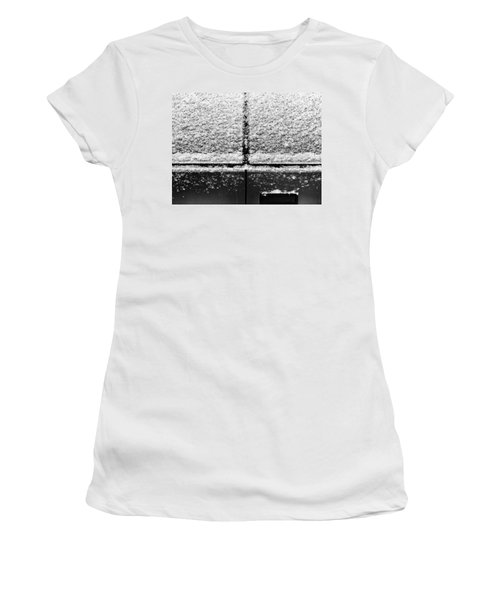 Women's T-Shirt featuring the photograph Snow Covered Rear by Robert Knight