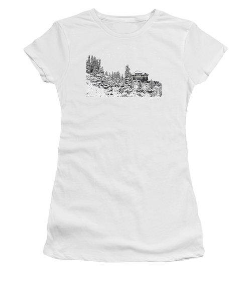 Women's T-Shirt (Junior Cut) featuring the photograph Snow In July 2 by Teresa Zieba
