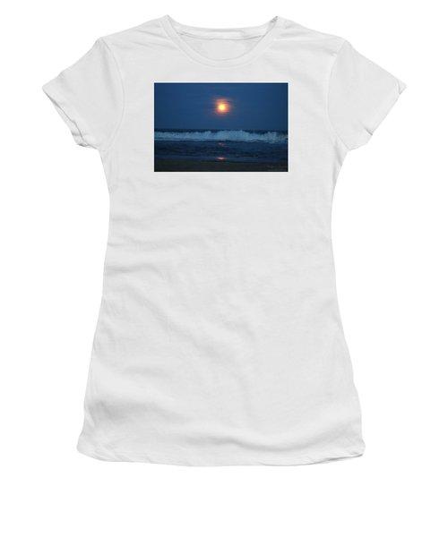 Snow Moon Ocean Waves Women's T-Shirt