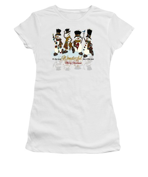 Snow Play Women's T-Shirt (Junior Cut) by Tami Dalton