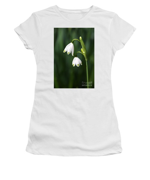 Snowdrops Painted Finger Nails Women's T-Shirt