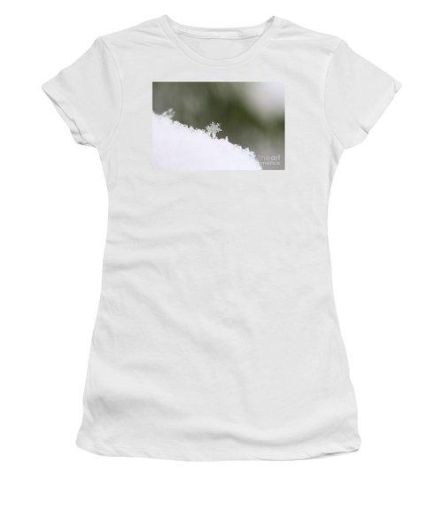 Snowflake Women's T-Shirt (Junior Cut) by Victor K