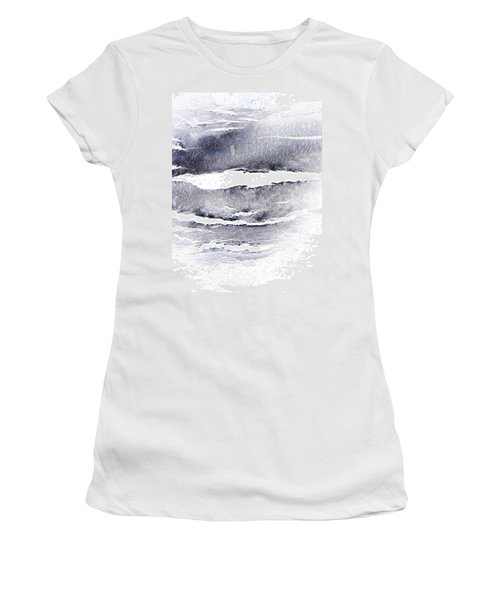 Women's T-Shirt (Junior Cut) featuring the photograph Snowstorm In The High Country by Lenore Senior