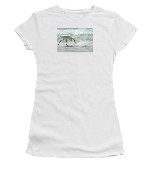 Snowy Egret 6265 Lido Beach Women's T-Shirt