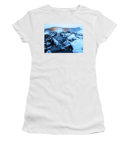 Snowy Reflections Women's T-Shirt (Junior Cut) by Angela Murray