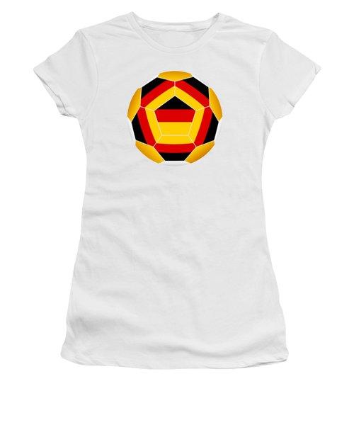 Soccer Ball With German Flag Women's T-Shirt