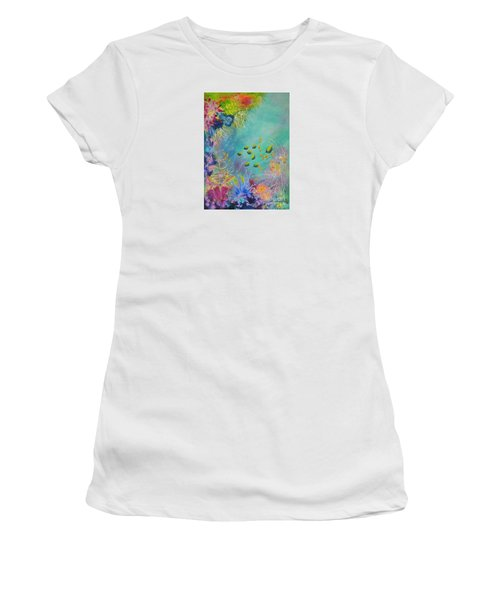 Soft And Hard Reef Corals Women's T-Shirt (Junior Cut) by Lyn Olsen