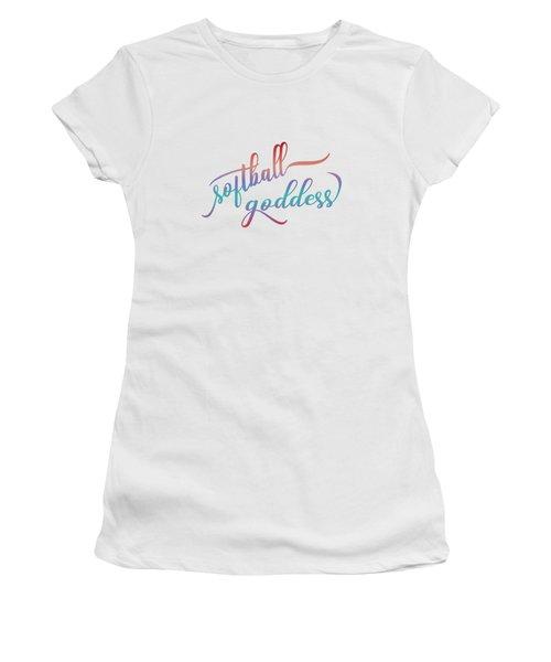 Softball Goddess Summer Ombre Women's T-Shirt (Athletic Fit)