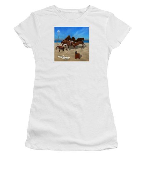 Softe Grand Piano Se Sq Women's T-Shirt (Junior Cut) by Mike McGlothlen