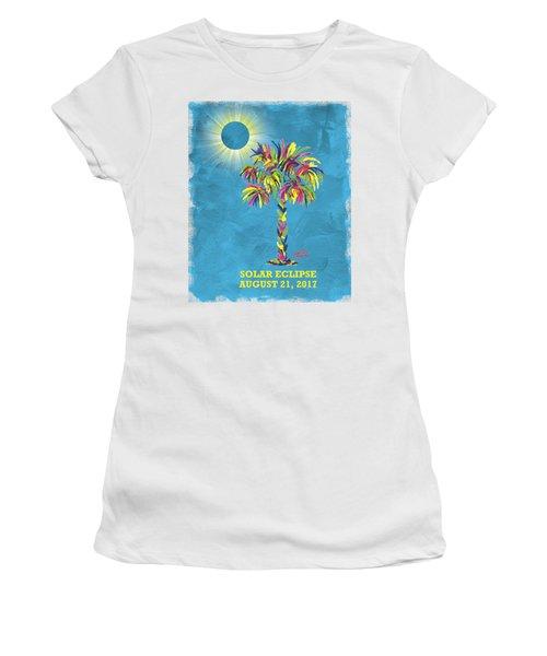 Solar Eclipse 2017 Women's T-Shirt (Athletic Fit)