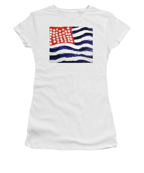 Something's Wrong With America Women's T-Shirt (Athletic Fit)