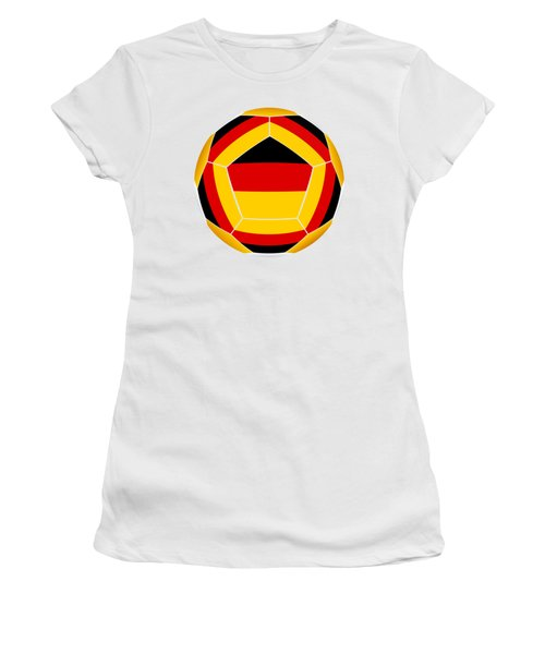 Soocer Ball With Germany Flag Women's T-Shirt