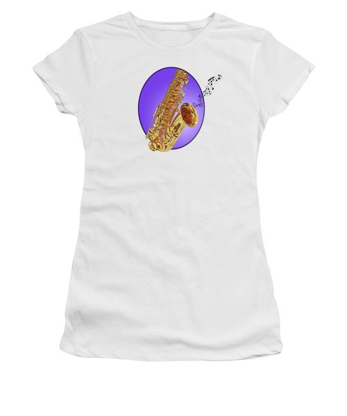 Sounds Of The Sax In Purple Women's T-Shirt