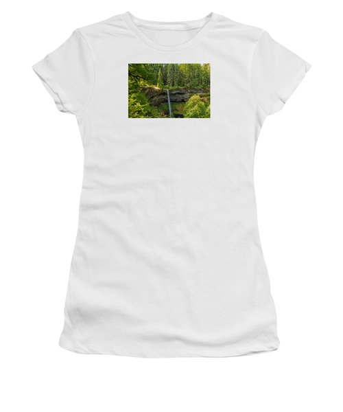 Women's T-Shirt (Junior Cut) featuring the photograph South Falls 0417 by Tom Kelly