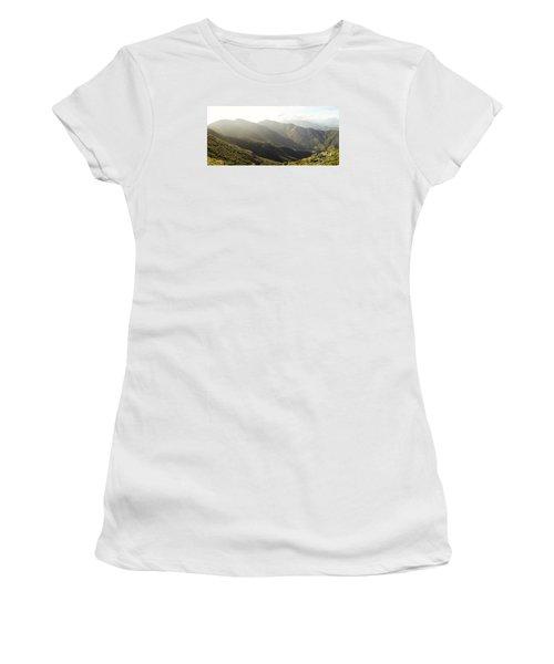 spanish mountain range, Malaga, Andalusia, Women's T-Shirt (Junior Cut) by Perry Van Munster