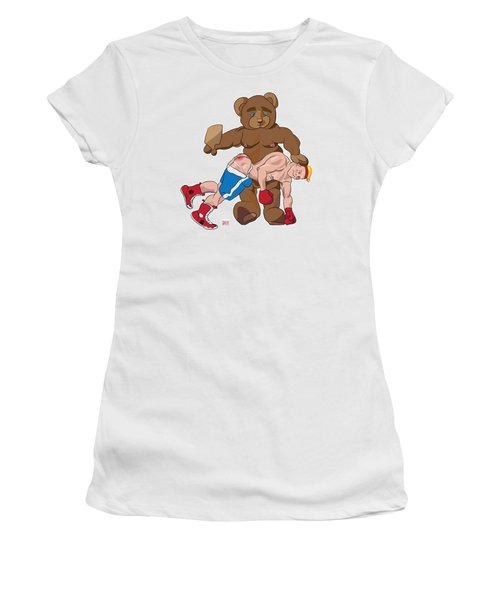Spanking Bear Women's T-Shirt (Athletic Fit)