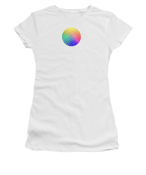 Spectrum Bomb Fruity Fresh Hdr Rainbow Colorful Experimental Pattern Women's T-Shirt