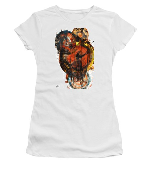 Women's T-Shirt (Athletic Fit) featuring the painting Sphere Series 1023.050312 by Kris Haas