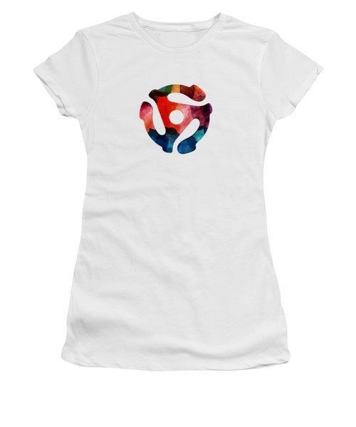 Spinning 45- Art By Linda Woods Women's T-Shirt