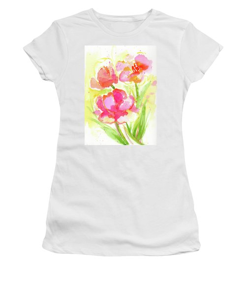 Splash Of Pinks  Women's T-Shirt (Athletic Fit)