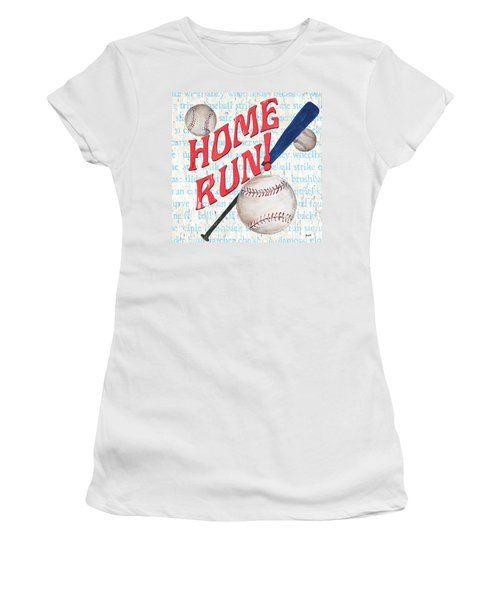 Sports Fan Baseball Women's T-Shirt (Athletic Fit)