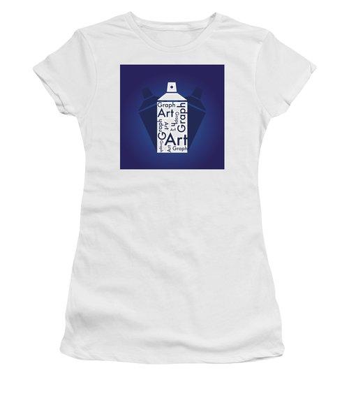 Graph Art Spray Can Women's T-Shirt (Junior Cut) by Sheila Mcdonald
