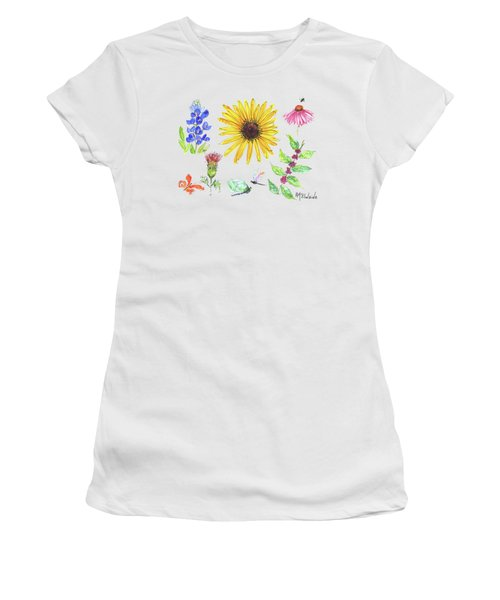 Spring 2017 Medley Watercolor Art By Kmcelwaine Women's T-Shirt (Junior Cut) by Kathleen McElwaine