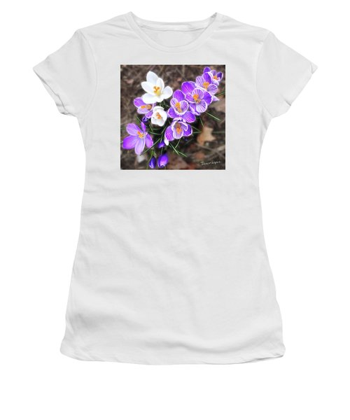 Women's T-Shirt (Junior Cut) featuring the photograph Spring Beauties by Terri Harper