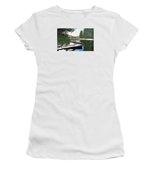 Women's T-Shirt (Junior Cut) featuring the painting Spring Breakup by Kenneth M Kirsch