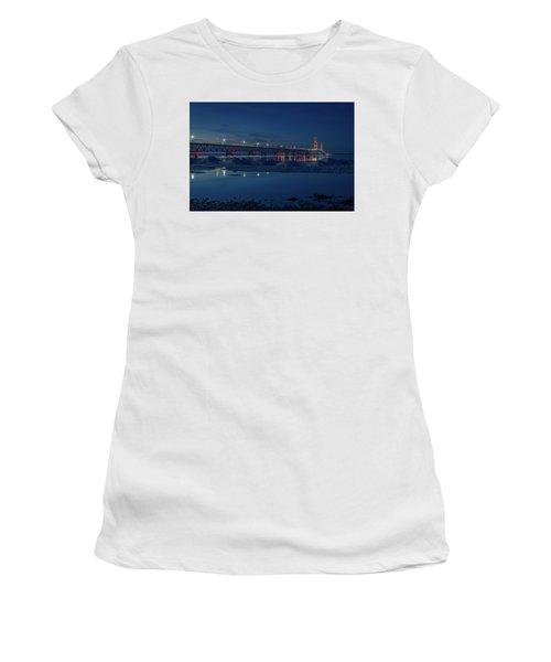 Spring Evening At The Mackinac Bridge Women's T-Shirt