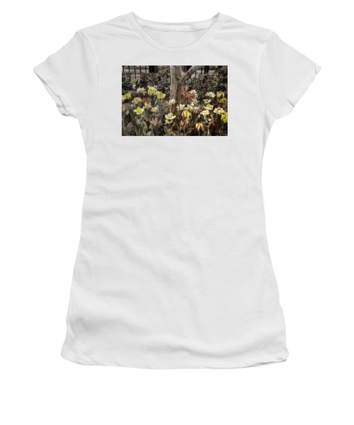 Women's T-Shirt (Junior Cut) featuring the photograph Spring Flowers by Joann Vitali