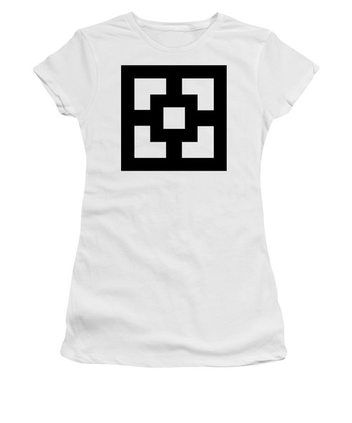 Women's T-Shirt (Junior Cut) featuring the digital art Squares - Chuck Staley by Chuck Staley