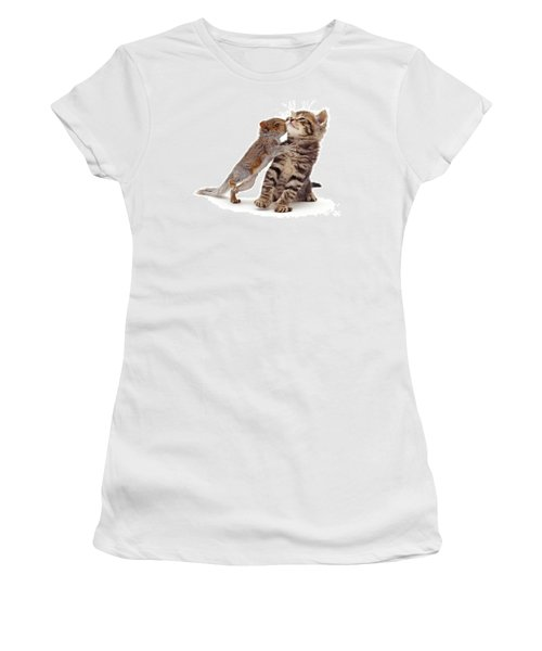 Squirrel Kiss Women's T-Shirt (Athletic Fit)