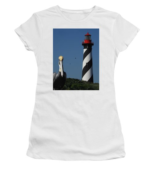 Women's T-Shirt (Junior Cut) featuring the photograph St. Augustine Lighthouse by Rod Seel